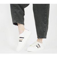 Office Freestyle- Lace Up Trainer WHITE NAVY MIX