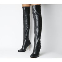 Office Kitten Stretch Over The Knee Boot BLACK STRETCH
