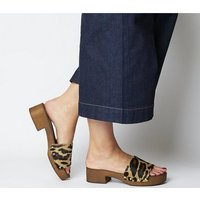 shop for Office Meadow-block Mule LEOPARD COW HAIR EFFECT at Shopo