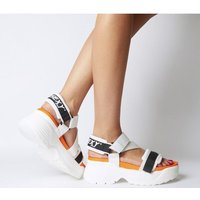 shop for Go Sexy Tube Sandal WHITE BLACK ORANGE at Shopo