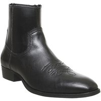 Office Buddy Western Boot BLACK LEATHER