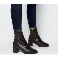 shop for Office Artisan- Block Heel Rand Boot CHOC CROC LEATHER at Shopo
