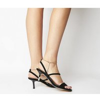 Office Merry-go-round- Strappy Sandal With Ankle Chain BLACK SUEDE