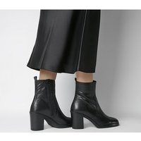Office Away- Casual Heeled Boot BLACK LEATHER