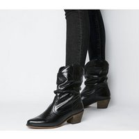 shop for Office Across-ruched Western Boot SHINY BLACK LEATHER at Shopo
