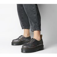 shop for Dr. Martens Holly 2 Eye Shoe GUNMETAL GREY CRACKED IRIDESCENT at Shopo