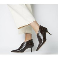 shop for Office Macs Pointed Shoeboot BROWN CROC LEATHER at Shopo