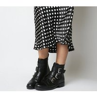 shop for Office Anticipate- Buckle Biker Boot BLACK LEATHER at Shopo