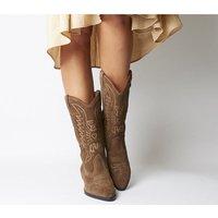 Vagabond Emily Cowboy Boot TAUPE SUEDE