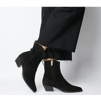 shop for Vagabond Emily Western Block Heel BLACK SUEDE at Shopo