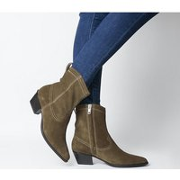 shop for Vagabond Emily Western Block Heel TAUPE SUEDE at Shopo