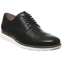 shop for Cole Haan W Original Grand Wingtip Oxford Shoes BLACK LEATHER WHITE at Shopo