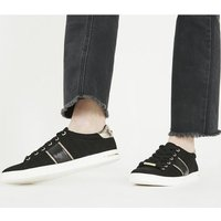 Office Famously- Lace Up Trainer BLACK WITH SILVER
