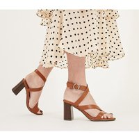 shop for Office Maroon- Strappy Block Heel TAN at Shopo