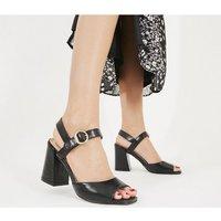 shop for Office High Five Flared Block Heels BLACK at Shopo