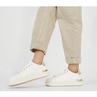 Office Fresh Lace Up Trainers WHITE WITH PINK