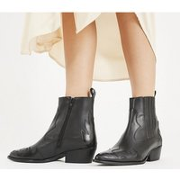 shop for Office Amelie - Mixed Material Western BLACK BOX LEATHER at Shopo
