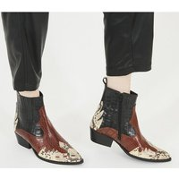 Office Amelie - Mixed Material Western CROCSNAKE MIX