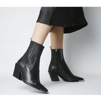 Office Arabella - High Cut Western BLACK LEATHER