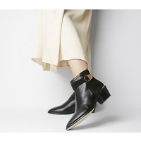Office Aretha - Buckle Boot BLACK LEATHER SUEDE MIX  ROSE GOLD