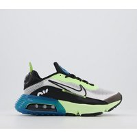 shop for Nike Air Max 2090 Gs Trainers WHITE BLACK VOLT BLUE FORCE at Shopo