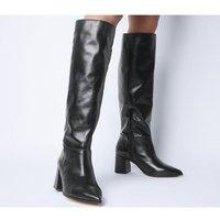 Office Kali Block Heel Knee Boot BLACK LEATHER