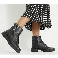 Office Atticus - Lace Up Boot BLACK LEATHER