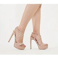shop for Office High-life Platform Sandal NUDE PATENT at Shopo