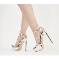 shop for Office High-life Platform Sandal SILVER MIRROR at Shopo