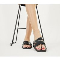 Office Stella - Mixed Material Mule BLACK