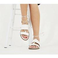 Office Summerside - Tie Sandal WHITE