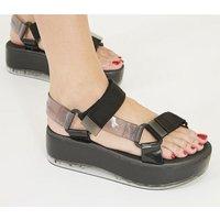 shop for Melissa Rider Papete Platform Sandal BLACK at Shopo