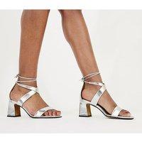 Office Miss-monday- Block Heel Sandal SILVER LEATHER