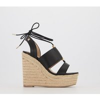 Office Harley - Espadrille Wedge BLACK