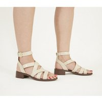 Office Stoney - Buckle Sandal OFF WHITE CROC LEATHER