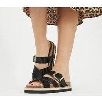 Office Superstition - Footbed Sandal BLACK PONY EFFECT
