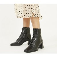 shop for Office Ariella - Lace Up Boot BLACK LEATHER at Shopo