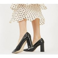 shop for Office Monaco - Block Pointed Court Shoe BLACK GROUCHO LEATHER at Shopo