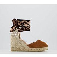shop for Gaimo for OFFICE Globo Ankle Wrap Sandal TAN LEOPARD at Shopo