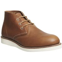 shop for Redwing Work Chukka boots TAN LEATHER at Shopo