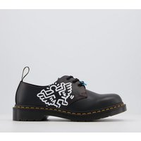 shop for Dr. Martens Keith Haring 1461 3 Eye Shoes W BLACK at Shopo