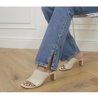 shop for Vagabond Shoemakers Luisa Heeled Mules OFF WHITE at Shopo