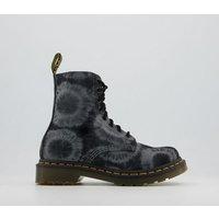 shop for Dr. Martens 1460 8 Eye Tie Dye Boots BLACK CHARCOAL at Shopo