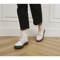 shop for Dr. Martens 1460 8 Eye Tie Dye Boots SHELL PINK WHITE at Shopo