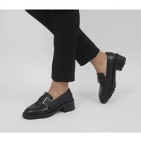 shop for Office Madmen Heeled Loafers With Buckle BLACK LEATHER at Shopo