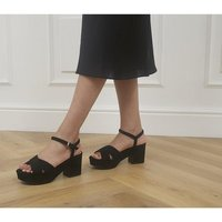 shop for Office Mexicana Two Part Platform Heels BLACK at Shopo