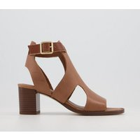 shop for Office Middelburg Covered Sandals CARAMEL LEATHER at Shopo