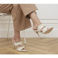 shop for Office Hillcrest Twist Two Strap Stiletto Mules OFF WHITE at Shopo