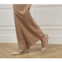 shop for Office Master's Degree Mesh Point Slingback Heels NUDE LEATHER MIX at Shopo