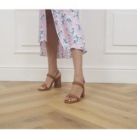 'Office Handle It Braided Block Heels Tan Leather